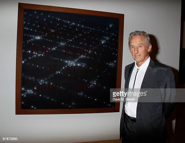 """Ed Ruscha at the hayward gallery where he is celebrating his exhibition of """"50 years of painting"""" on October 13, 2009. In London. United Kingdom...."""