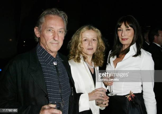 Ed Ruscha , Dana Ruscha and Anjelica Huston during MOCA Celebrates 25 Years of Ground Breaking Art Achievements - Inside at MOCA at The Geffen...