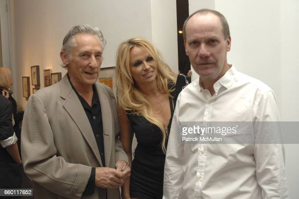 Ed Ruscha, Pamela Anderson and Richard Prince attend SHE: Images of women by Wallace Berman and Richard Prince Opening at Michael Kohn Gallery on...