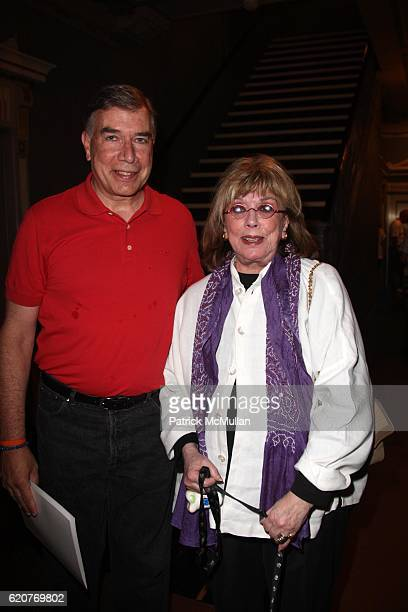 Ed Sayres and Phyllis Newman attend A PAWPULAR StarStudded Dog and Cat AdoptAThon BROADWAY BARKS Celebrates it's 10th Anniversary at Shubert Alley on...