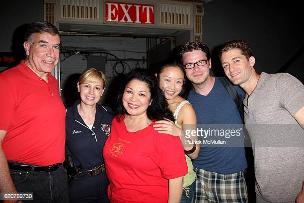 Ed Sayres Anne Marie Lucas Loretta Ables Sayre Li Jun Li Nick Mayo and Matthew Morrison attend A PAWPULAR StarStudded Dog and Cat AdoptAThon BROADWAY...