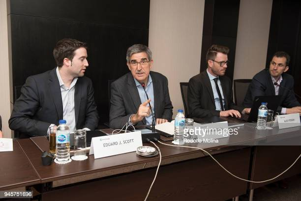 Ed Scott Chief Operations Officer Jordi Bertomeu CEO and Director of Eurolague Basketball Alex Ferrer EB Marketing and Communication Director during...