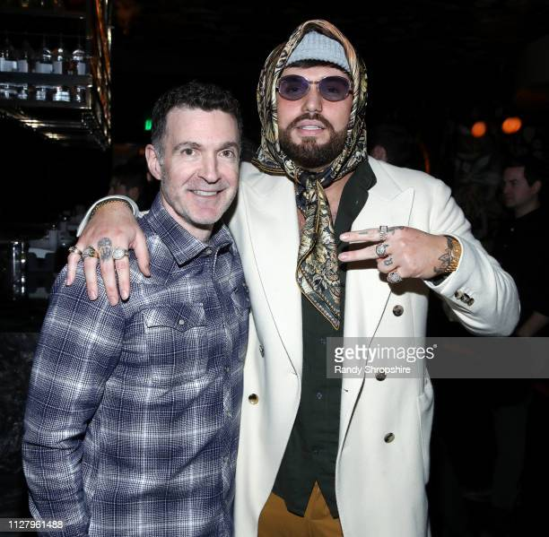 Ed Shapiro and Gashi attend Reed Smith Grammy Party at Nightingale Plaza on February 06 2019 in Los Angeles California