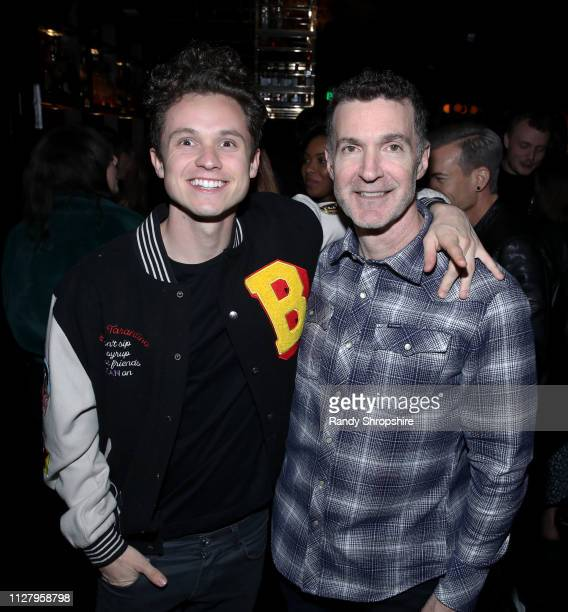 Ed Shapiro and guest attend Reed Smith Grammy Party at Nightingale Plaza on February 06 2019 in Los Angeles California