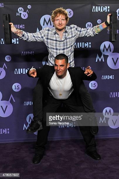 Ed Sheeran and Emil Nava pose in the press room at the 2015 MuchMusic Video Awards at MuchMusic HQ on June 21, 2015 in Toronto, Canada.