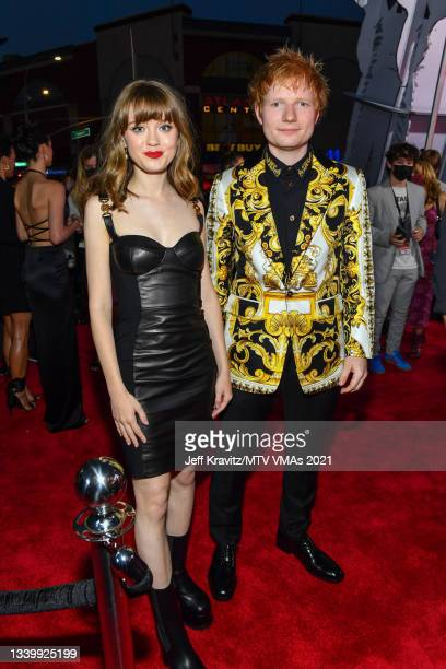 Ed Sheeran and guest attends the 2021 MTV Video Music Awards at Barclays Center on September 12, 2021 in the Brooklyn borough of New York City.