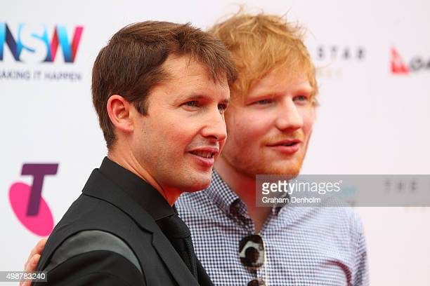 Ed Sheeran and James Blunt arrive for the 29th Annual ARIA Awards 2015 at The Star on November 26 2015 in Sydney Australia