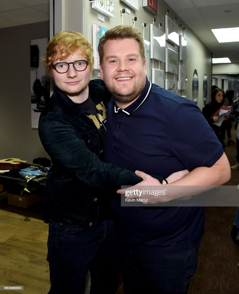 Ed Sheeran (L) and James Corden attend 102.7 KIIS FM's Jingle Ball 2017 presented by Capital One at The Forum on December 1, 2017 in Inglewood, California.
