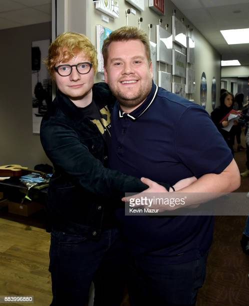 Ed Sheeran and James Corden attend 1027 KIIS FM's Jingle Ball 2017 presented by Capital One at The Forum on December 1 2017 in Inglewood California