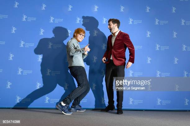 Ed Sheeran and Murray Cummings pose at the 'Songwriter' photo call during the 68th Berlinale International Film Festival Berlin at Grand Hyatt Hotel...