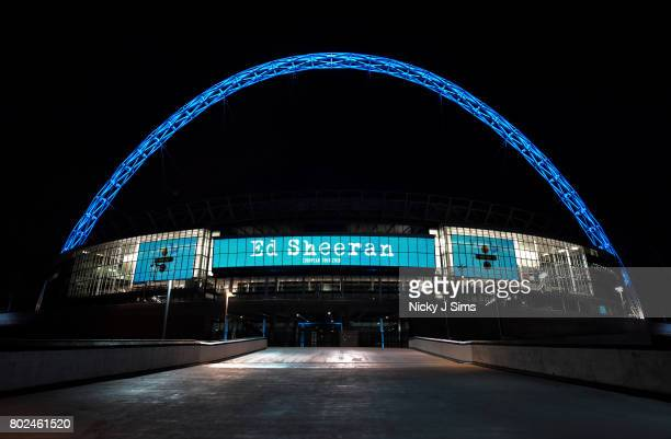 Ed Sheeran announces European Stadium tour at Wembley Stadium on June 23 2017 in London England