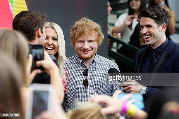 Ed Sheeran arrives ahead of the ARIA Awards 2015 at The Star on November 26 2015 in Sydney Australia
