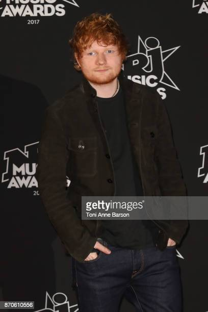Ed Sheeran arrives at the 19th NRJ Music Awards ceremony at the Palais des Festivals on November 4 2017 in Cannes France