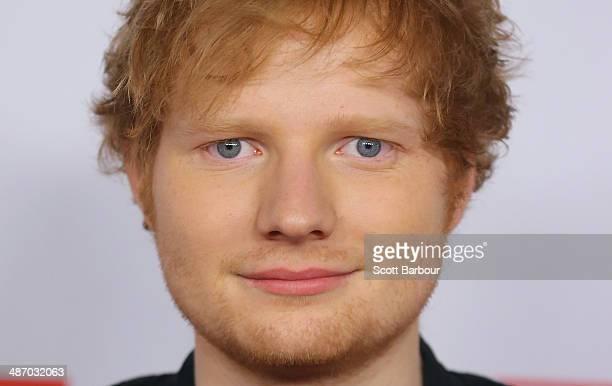 Ed Sheeran arrives at the 2014 Logie Awards at Crown Palladium on April 27 2014 in Melbourne Australia