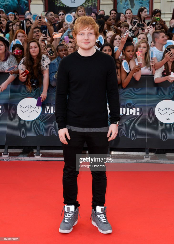 Ed Sheeran arrives at the 2014 MuchMusic Video Awards at MuchMusic HQ on June 15, 2014 in Toronto, Canada.