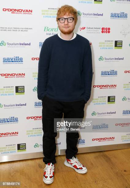 Ed Sheeran attends An Evening With Dermot O'Leary PresentsEd Sheeran At The London Irish Centre on June 19 2018 in London England