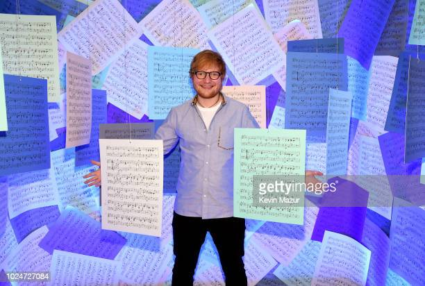 Ed Sheeran attends Apple Music Presents Songwriter With Ed Sheeran in Los Angeles at ArcLight Cinemas Cinerama Dome on August 27 2018 in Hollywood...