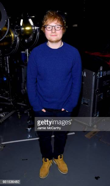 Ed Sheeran attends backstage during 60th Annual GRAMMY Awards - I'm Still Standing: A GRAMMY Salute To Elton John at the Theater at Madison Square...