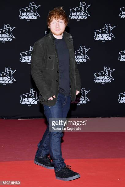 Ed Sheeran attends the 19th NRJ Music Awards on November 4 2017 in Cannes France