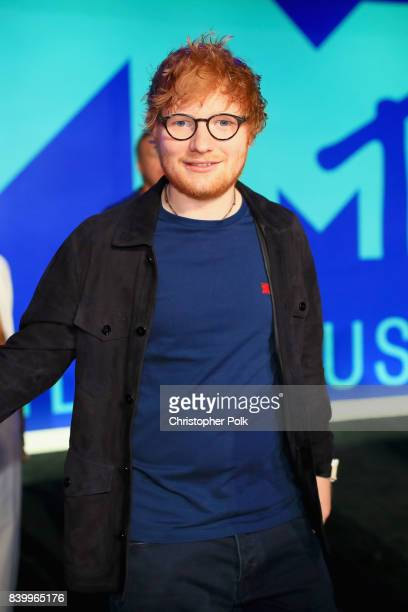 Ed Sheeran attends the 2017 MTV Video Music Awards at The Forum on August 27 2017 in Inglewood California