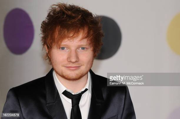 Ed Sheeran attends the Brit Awards 2013 at the 02 Arena on February 20 2013 in London England