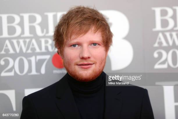 Ed Sheeran attends The BRIT Awards 2017 at The O2 Arena on February 22 2017 in London England