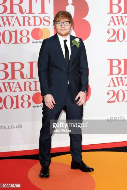 AWARDS 2018*** Ed Sheeran attends The BRIT Awards 2018 held at The O2 Arena on February 21 2018 in London England
