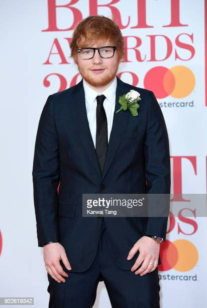 AWARDS 2018 *** Ed Sheeran attends The BRIT Awards 2018 held at The O2 Arena on February 21 2018 in London England