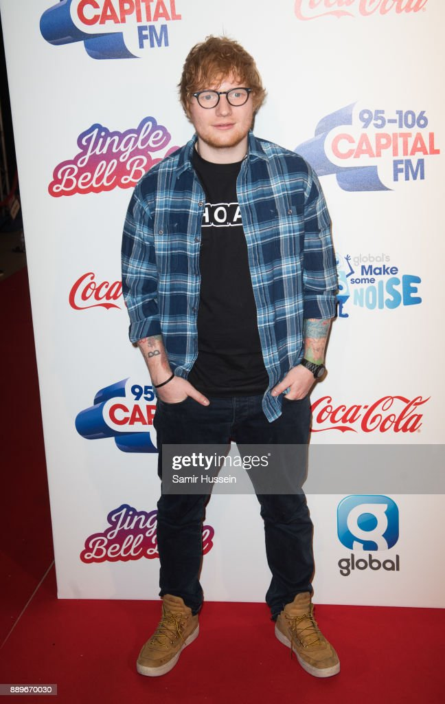 Ed Sheeran attends the Capital FM Jingle Bell Ball with Coca-Cola at The O2 Arena on December 10, 2017 in London, England.