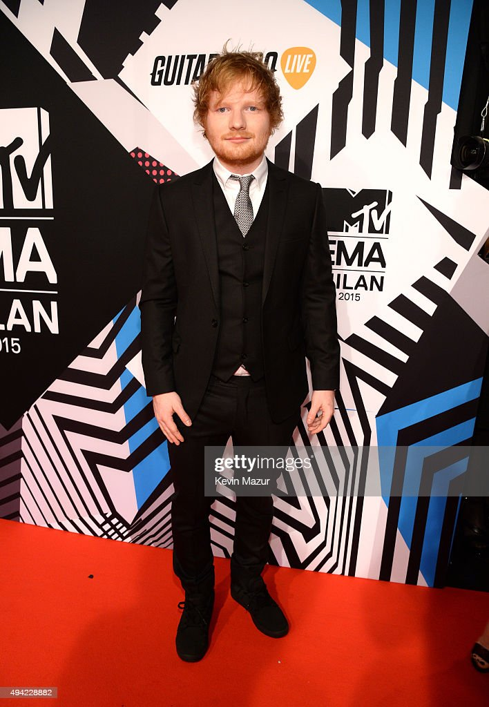 Ed Sheeran attends the MTV EMA's 2015 at Mediolanum Forum on October 25, 2015 in Milan, Italy.