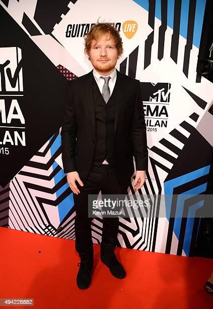 Ed Sheeran attends the MTV EMA's 2015 at Mediolanum Forum on October 25 2015 in Milan Italy