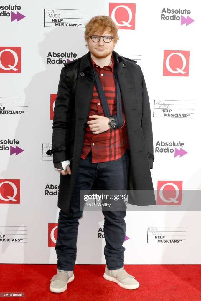 Ed Sheeran attends the Q Awards 2017, in association with Absolute Radio, held at the Roundhouse on October 18, 2017 in London, England.