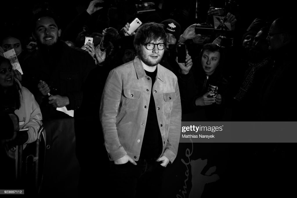 Ed Sheeran attends the 'Songwriter' premiere at the Friedrichstadtpalast during the 68th Berlinale International Film Festival Berlin at on February 23, 2018 in Berlin, Germany.