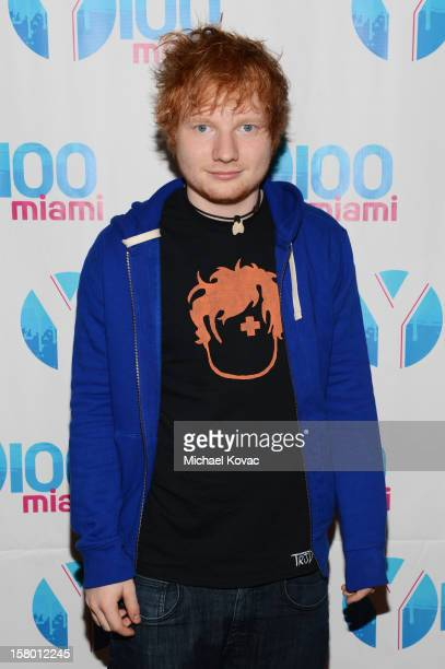 Ed Sheeran attends the Y100's Jingle Ball 2012 at the BBT Center on December 8 2012 in Miami
