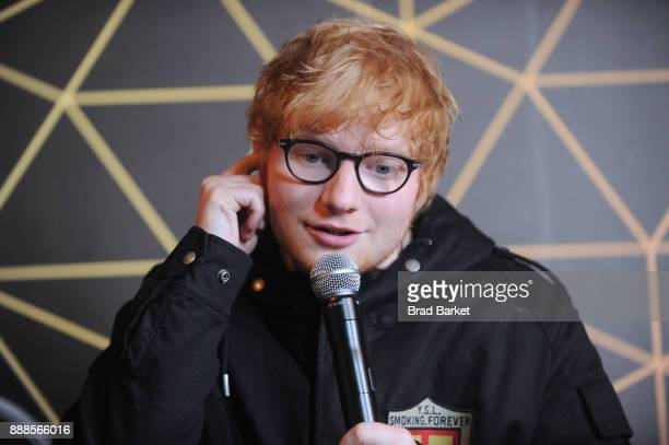 Ed Sheeran attends the Z100's Jingle Ball 2017 backstage on December 8 2017 in New York City