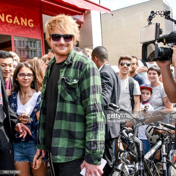 Ed Sheeran wax figure is unveiled at Madame Tussauds on July 18 2018 in Berlin Germany