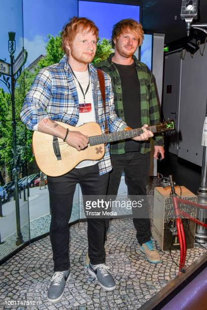 Ed Sheeran Double Niko Eckl during Ed Sheeran wax figure is unveiled at Madame Tussauds on July 18 2018 in Berlin Germany