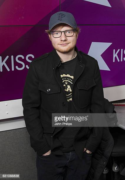Ed Sheeran during his visit to Kiss at Bauer Radio on January 6 2017 in London England The interview will be aired on Kiss on Monday 9th January