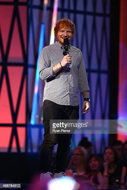 Ed Sheeran during the 29th Annual ARIA Awards 2015 at The Star on November 26 2015 in Sydney Australia