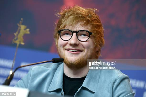 Ed Sheeran is seen at the 'Songwriter' press conference during the 68th Berlinale International Film Festival Berlin at Grand Hyatt Hotel on February...