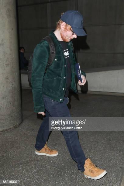 Ed Sheeran is seen on November 29 2017 in Los Angeles California