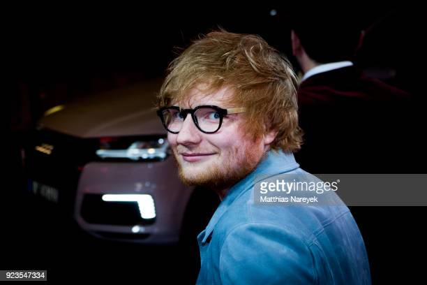 Ed Sheeran leaves the 'Songwriter' premiere during the 68th Berlinale International Film Festival Berlin at Friedrichstadtpalast on February 23 2018...