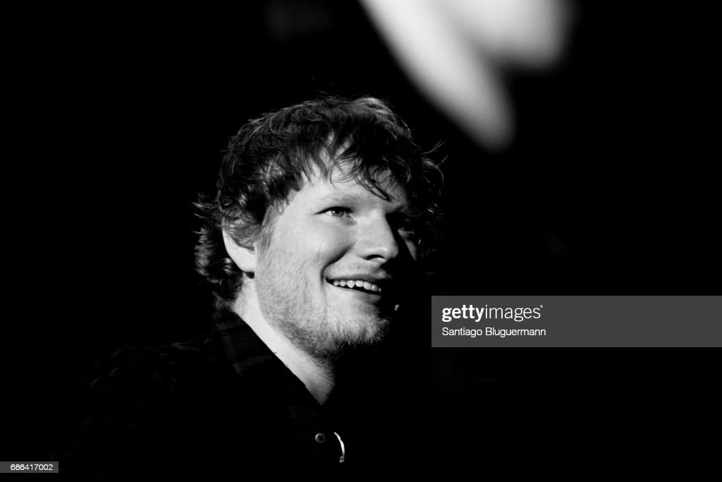Ed Sheeran looks on during the 'Devide' Tour at Ciudad de La Plata Stadium on May 20, 2017 in Buenos Aires, Argentina.