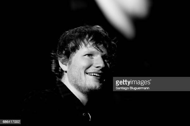 Ed Sheeran looks on during the 'Devide' Tour at Ciudad de La Plata Stadium on May 20 2017 in Buenos Aires Argentina