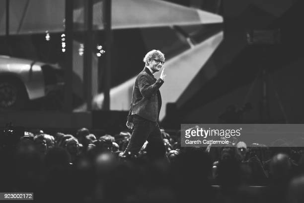 Ed Sheeran onstage during The BRIT Awards 2018 held at The O2 Arena on February 21 2018 in London England
