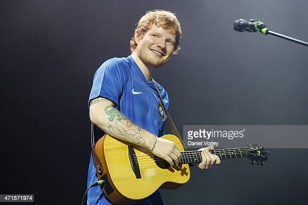Ed Sheeran perfoms live at Espaco das Americas on April 29 2015 in Sao Paulo Brazil