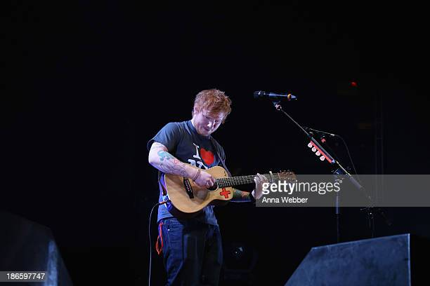 Ed Sheeran performs a soldout show at Madison Square Garden Arena on November 1 2013 in New York City