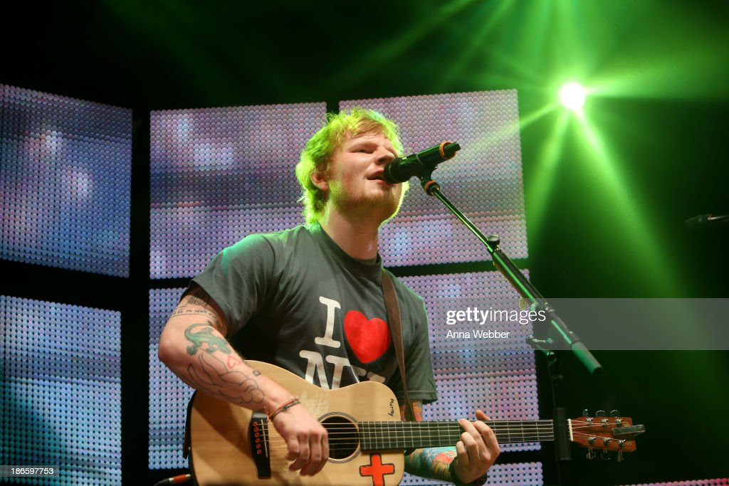 Ed Sheeran performs a sold-out show at Madison Square Garden Arena on November 1, 2013 in New York City.