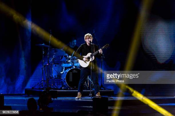 Ed Sheeran performs as special guest for the XFactor 11 Finale