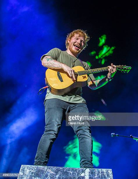 Ed Sheeran performs at Suncorp Stadium on November 28 2015 in Brisbane Australia